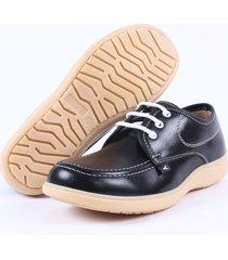 zapato colegial street line -negro suela goma