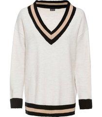maglione con scollo a v ampio (beige) - bodyflirt