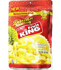 fruit king dried chunk durian monthong premium snack thai halal 100g exp 10/2017