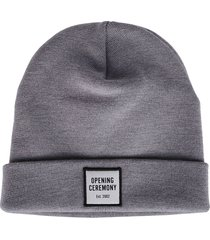 opening ceremony grey virgin wool beanie hat