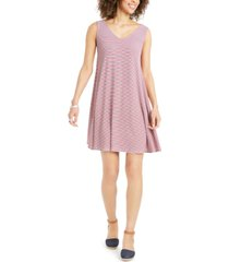 style & co plus size cross-back swing dress, created for macy's