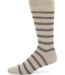 tri-striped crew socks