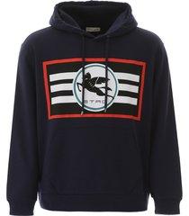 etro pegaso logo hoodie