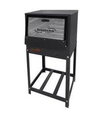 forno industrial invicto fogões baixa pressão cavalete 120 litros grafite