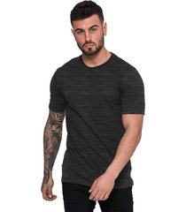 camiseta di nuevo masculina casual com textura em riscos preta