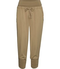 line pants casual broek beige cream