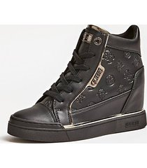 guess sneakers con zeppa fabia