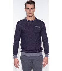 blue industry sweater paars