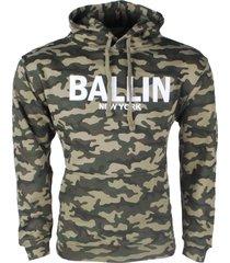 ballin est. 2013 heren trui hoodie sweat army print