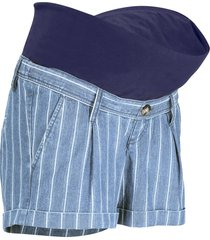shorts prémaman di jeans a righe (blu) - bpc bonprix collection