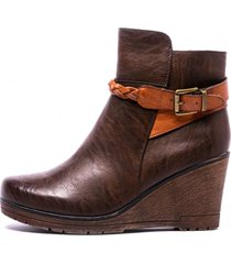 botin dominga brown chancleta