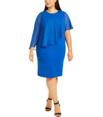 calvin klein plus size chiffon popover dress