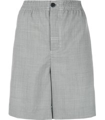 alexander wang high rise wide shorts - grey