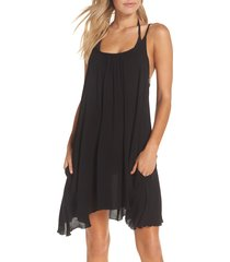 women's elan cover-up slipdress, size x-large - black (nordstrom exclusive)