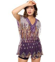 blusa violeta donadonna