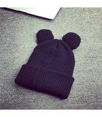 berretto da donna berretto con orecchie da gatto inverno caldo lana lavorata a maglia soft cappello