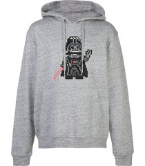 mostly heard rarely seen 8-bit invader jersey hoodie - grey