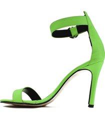 sandalia de cuero verde filmini neon ink