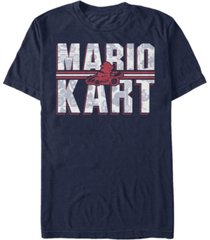 nintendo men's mario kart shadowed logo short sleeve t-shirt