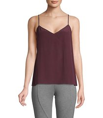 v-neck silk camisole