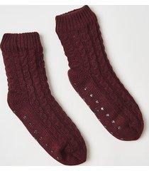 hunkemöller slipper strumpor knitted röd