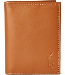 polo ralph lauren men's burnished leather window billfold wallet