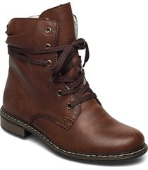 71229-22 shoes boots ankle boots ankle boot - flat brun rieker