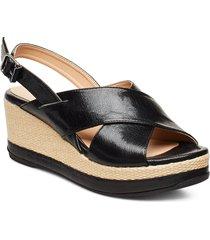 kastro_gcr sandalette med klack espadrilles svart unisa