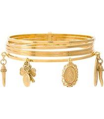dolce & gabbana blacelete com pingente - dourado