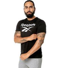 camiseta negro-blanco reebok stacked tee
