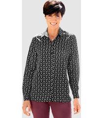 blouse paola zwart::lichtgrijs