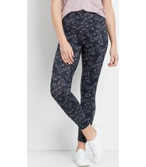 maurices womens floral high rise full length luxe leggings green