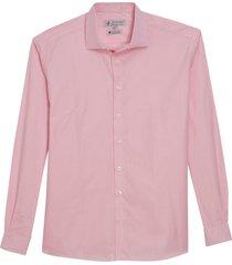 camisa dudalina manga longa luxury fio tinto maquinetado masculina (rosa claro, 48)