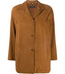 a.n.g.e.l.o. vintage cult 1990s short single-breasted suede coat -