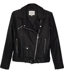 matt & nat draden vegan leather jacket, black