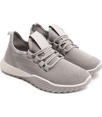 tenis grises cordones cruzados color gris, talla 36