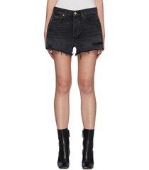 'parker' vintage frayed hem denim shorts