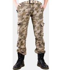 tuta mimetica per uomo di grandi dimensioni al 100% in cotone e camouflage da esterno pantaloni