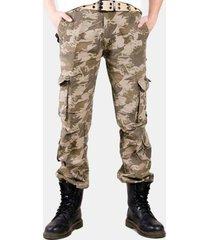 tuta per uomo di grandi dimensioni mimetica multi-tasca in cotone 100% pantaloni