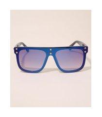óculos de sol feminino quadrado yessica azul marinho