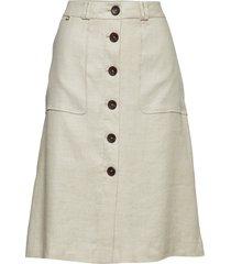 blanca safari skirt knälång kjol creme morris lady
