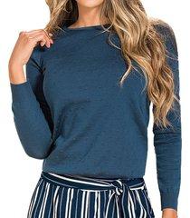 blusa kyla azul  para mujer croydon