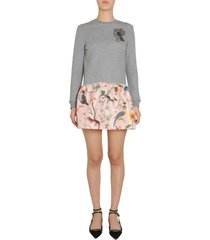 red valentino fleece dress