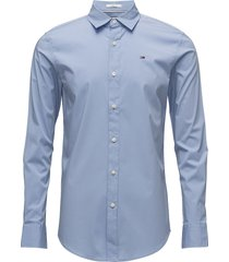 tjm original stretch overhemd business blauw tommy jeans