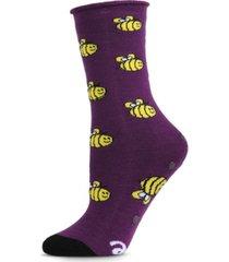 bee well soon greeting card women's socks