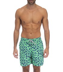 spotted swim shorts