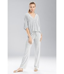 n terry lounge pants pajamas, women's, grey, size m, n natori