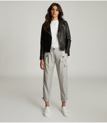 reiss brianna - wool blend cargo pants in, womens, size 14