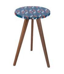 mesa lateral alta daf mobiliário minion 46cm sarja colorido azul