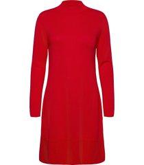 dresses flat knitted kort klänning röd esprit collection